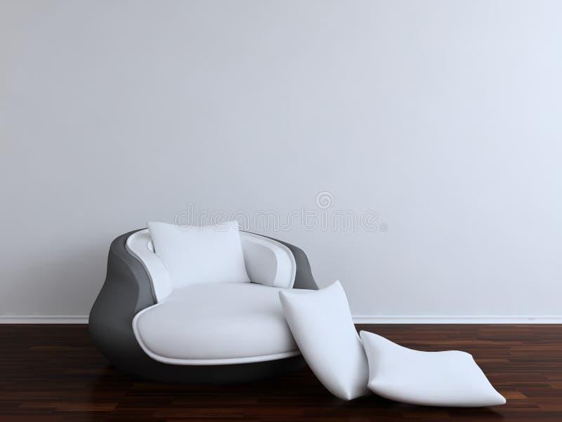Butaca blanca del diván libre illustration