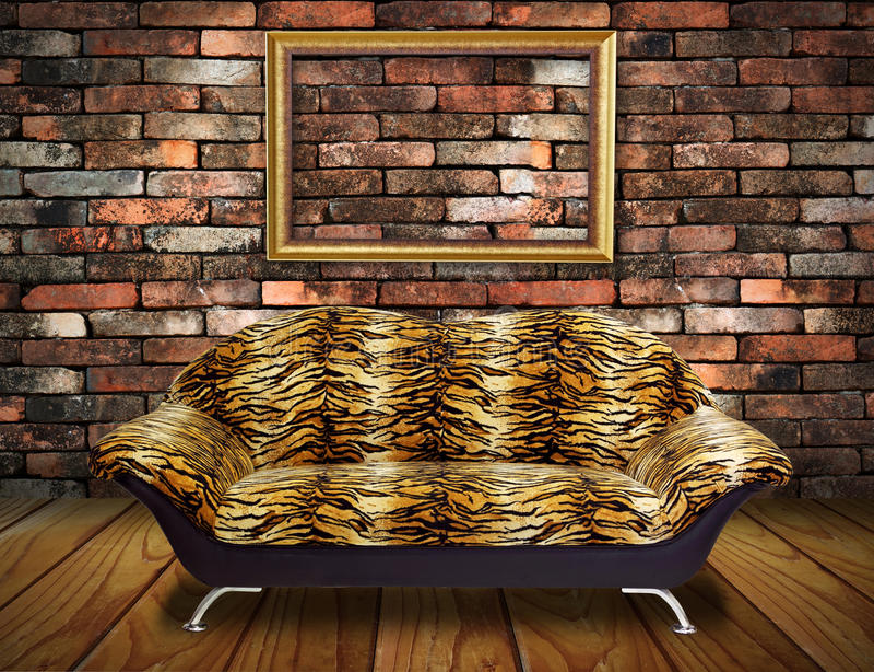Butaca de lujo de la vendimia, marco en sitio foto de archivo