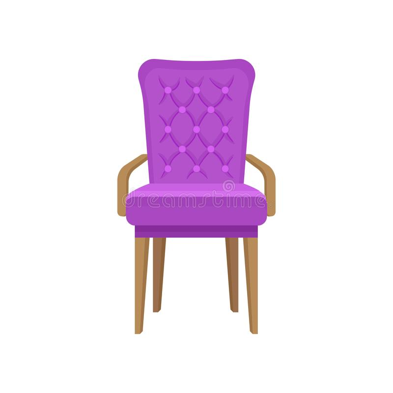 Butaca del terciopelo, muebles de la sala de estar, ejemplo del vector del elemento del diseño interior en un fondo blanco libre illustration