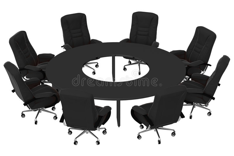 Butacas aisladas de la oficina con el cuadro 07 stock de ilustración