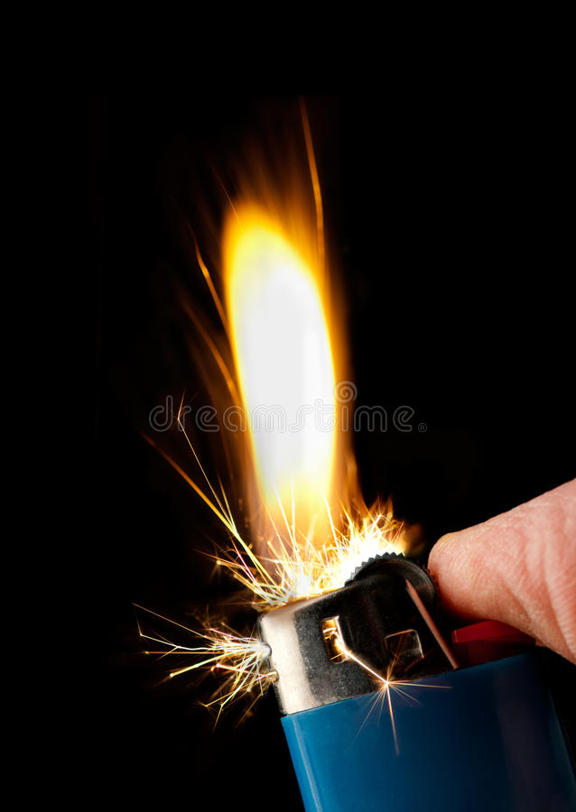 Free Butane Lighter Igniting Stock Photography - 19050372