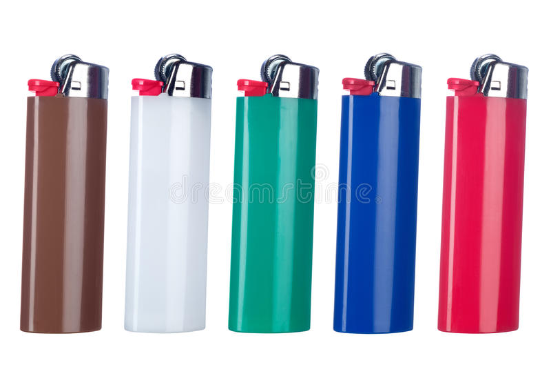 Download Butane lighters stock image. Image of brown, colors, equipment - 18298091