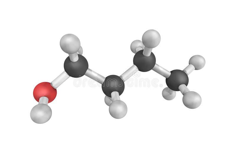 Butanol (także nazwany butyl alkohol), pierwotnie używać jako rozpuszczalnik obraz stock