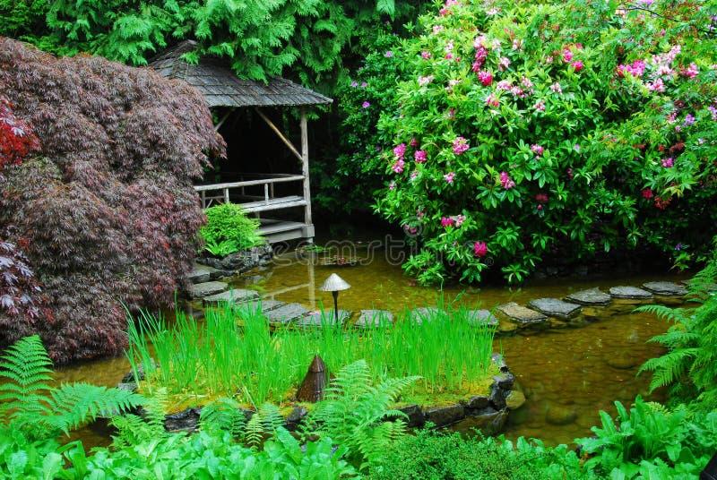 Butchart gardens stock photography