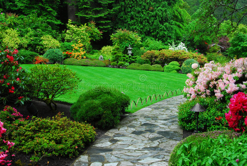 butchart ogród japoński ogrody zdjęcie stock
