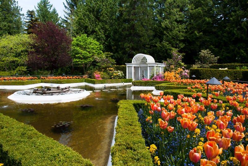 butchart ogródy zdjęcia royalty free