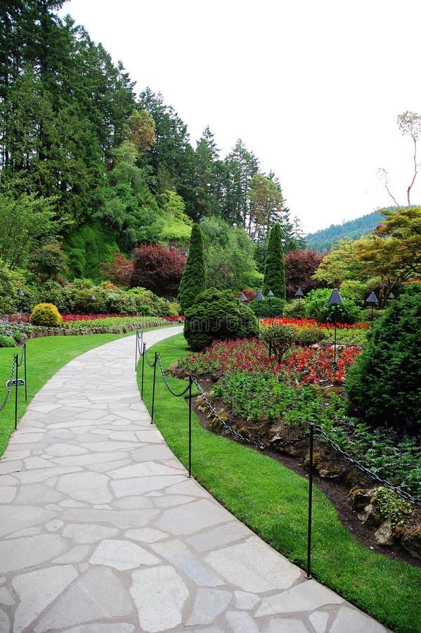 butchartträdgårdar royaltyfria bilder