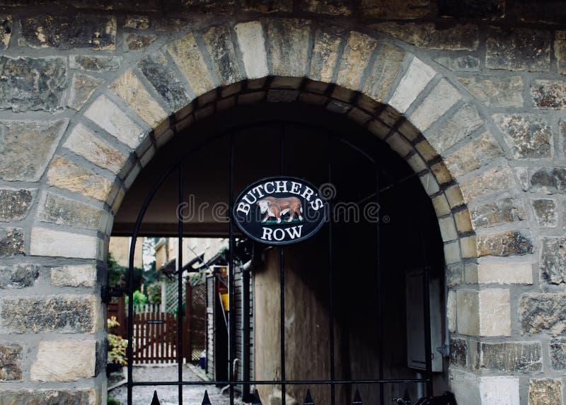 Butcher'srij royalty-vrije stock afbeelding