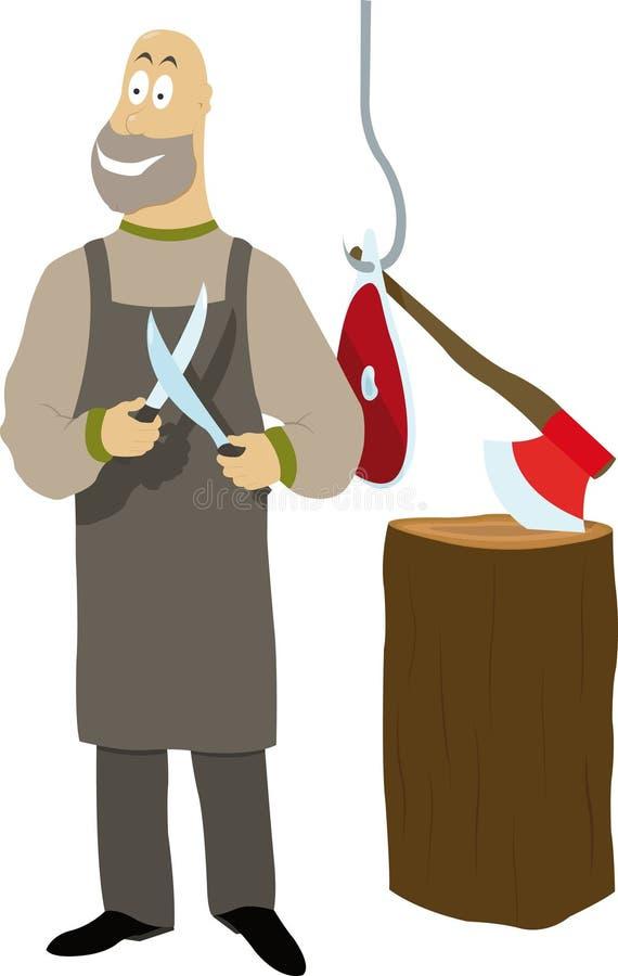 Download Butcher stock vector. Image of chop, bald, hook, butcher - 21148336