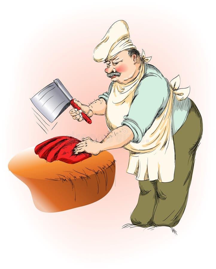 butcher иллюстрация штока
