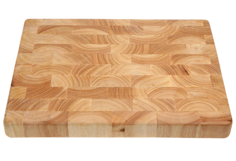 Butcher's Block Wooden Chopping Board stock image