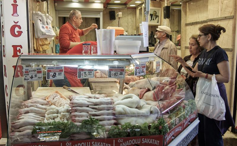 Butcher shop in istanbul stock photos