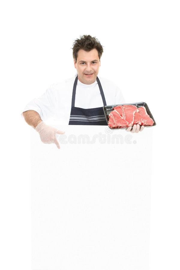Download Butcher - This Weeks Specials Stock Photo - Image: 3278406