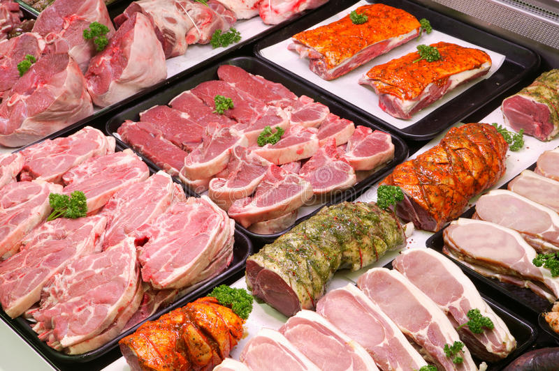 Butchers Counter royalty free stock photo