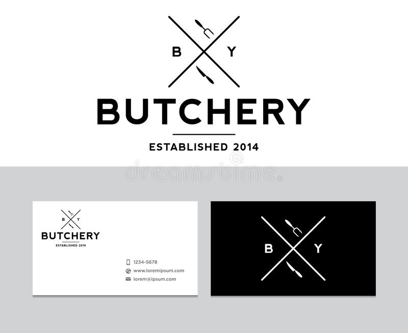 Butchery logo. For many purposes. All vector and ready for print and web stock illustration