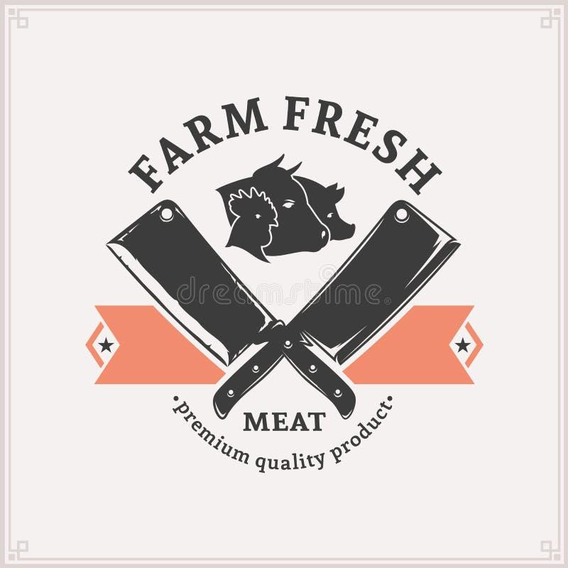 Butchery logo, Mięsny etykietka szablon ilustracja wektor