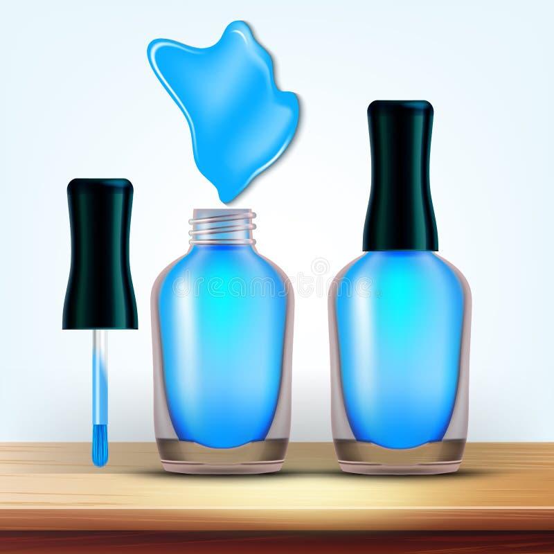 Buteleczka Bławy gwoździa połysku kosmetyka wektor royalty ilustracja