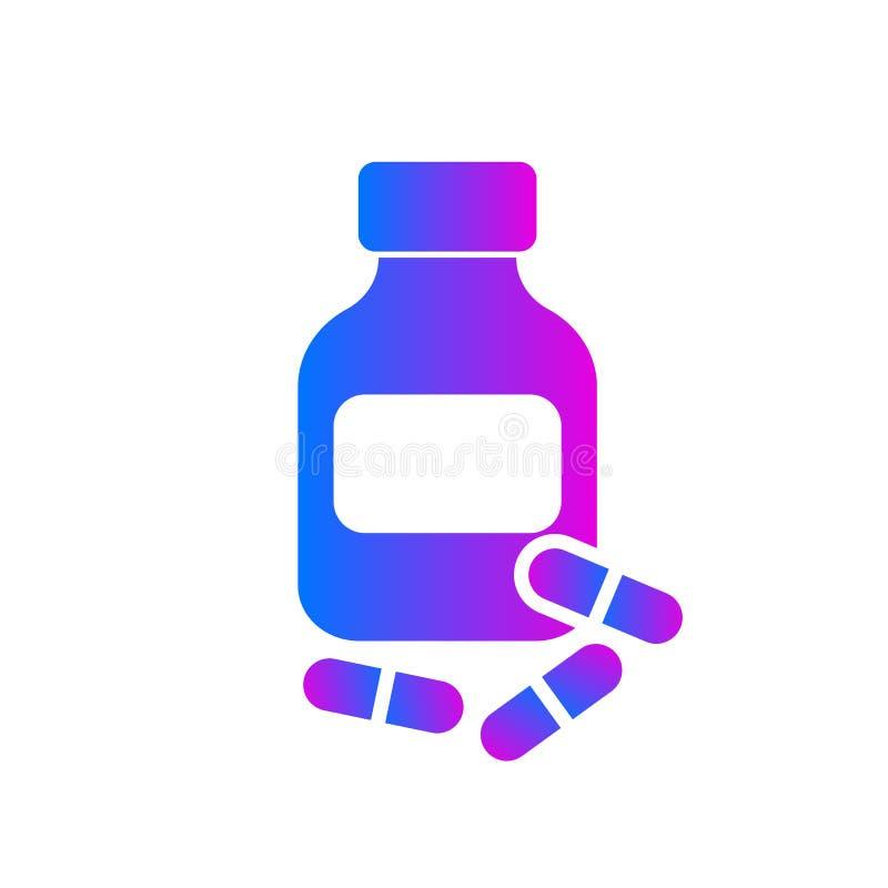 Buteleczka i leki ilustracja wektor