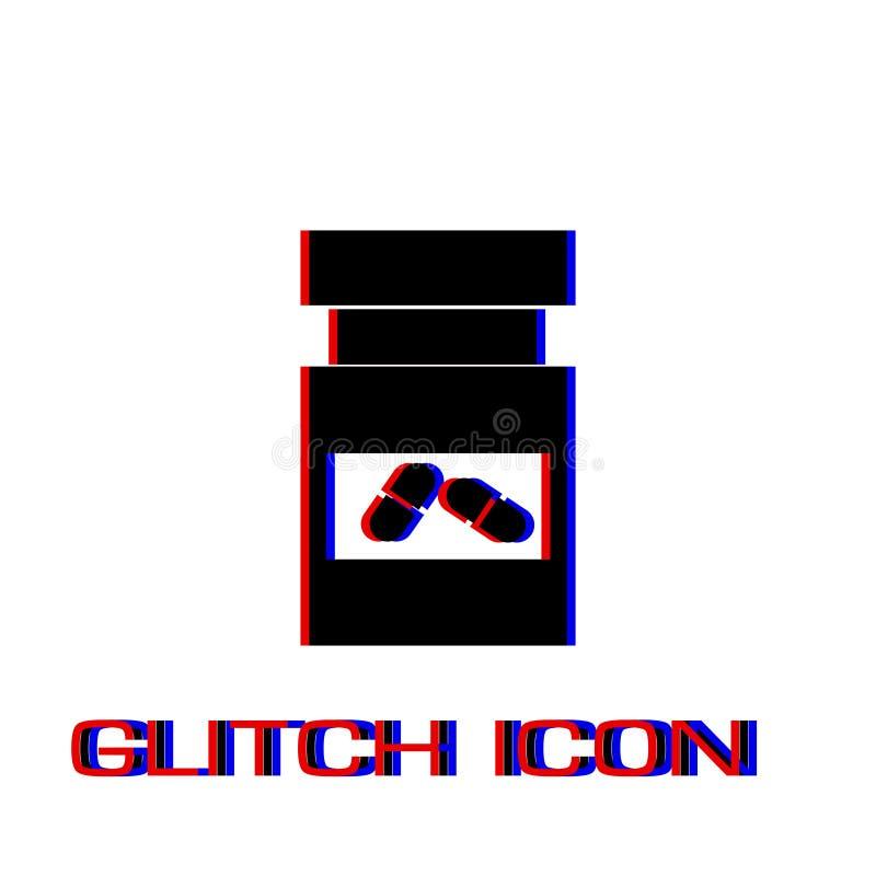 Buteleczka medycyny ikony mieszkanie ilustracja wektor