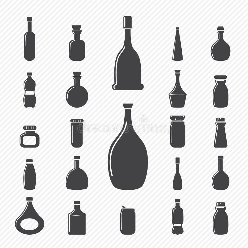 Butelek ikony ilustracja wektor