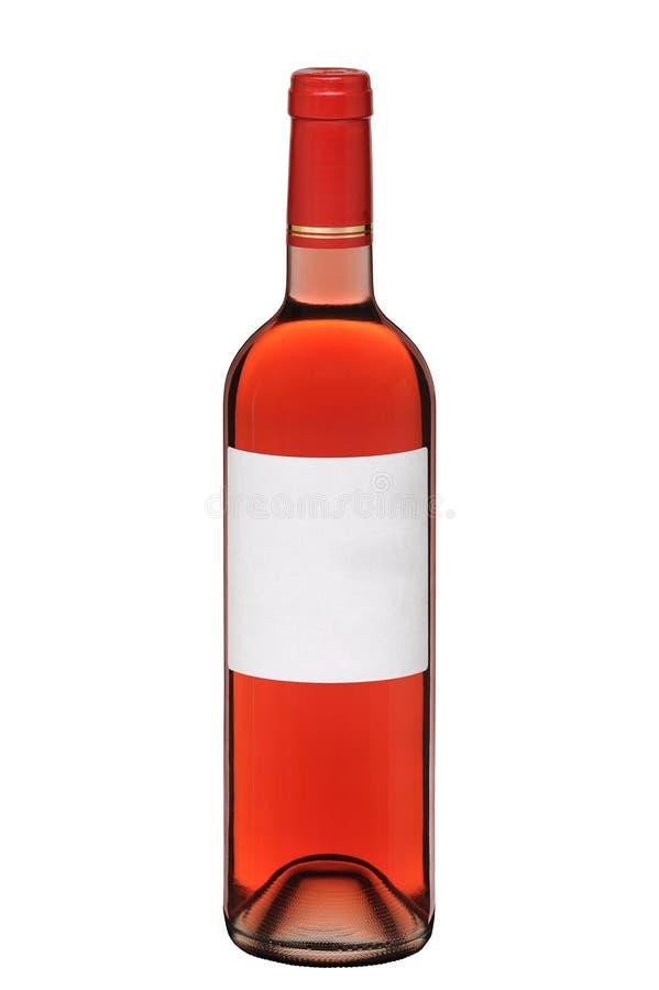 Buteljera av rosa wine arkivfoton