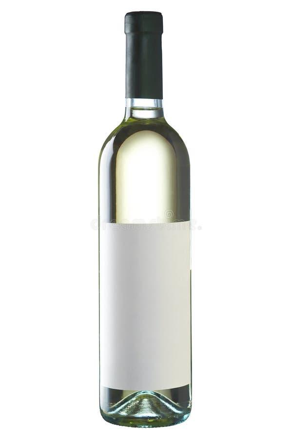 butelkę białego wina obraz royalty free