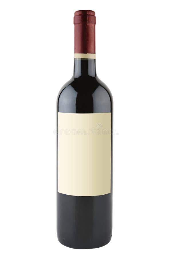 butelkę czerwonego wina obraz stock