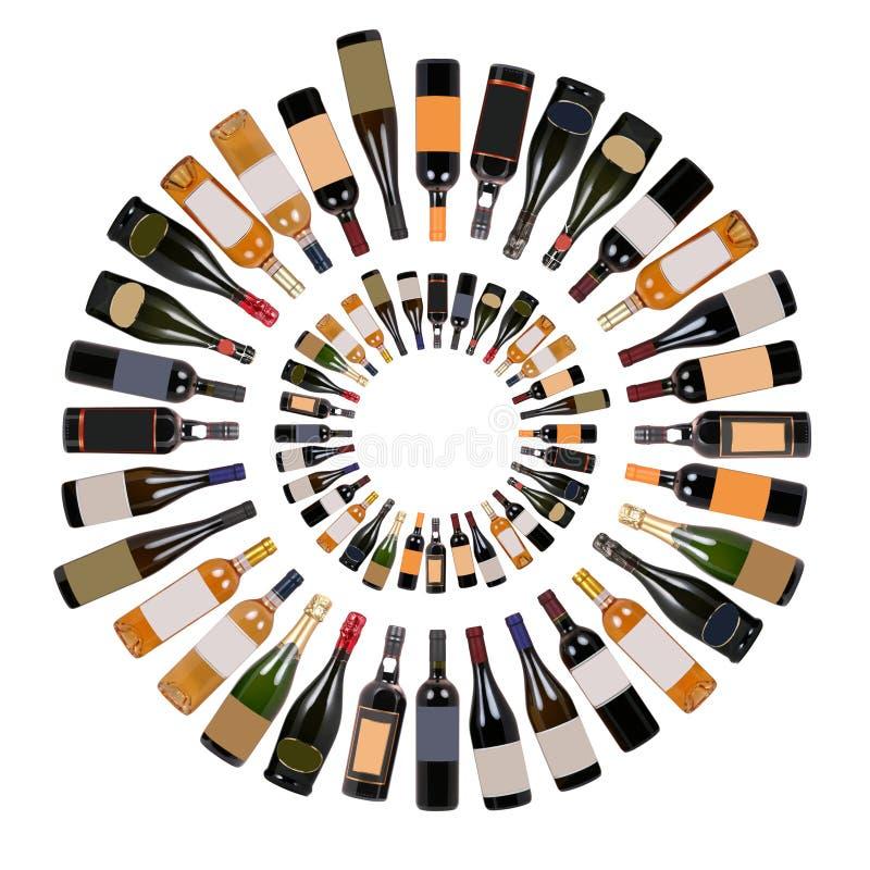 butelkę wina. ilustracja wektor