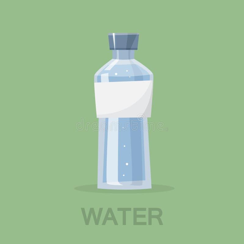 Butelka świeża zimna woda Kopalny napój ilustracja wektor