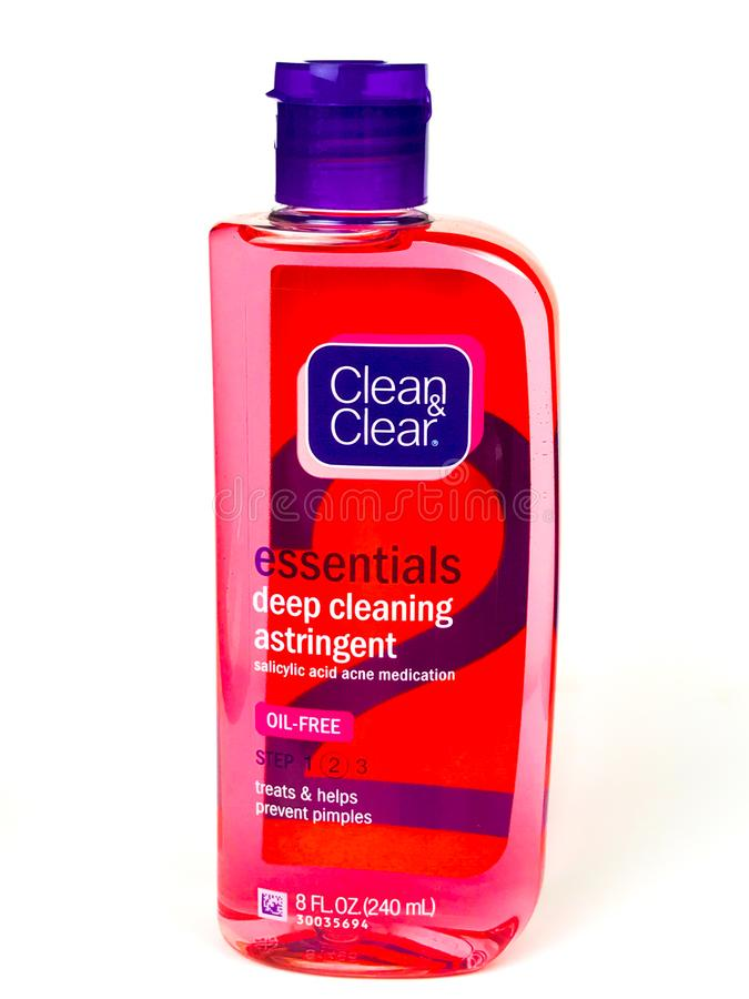Butelka Cleaning Astringent obrazy stock