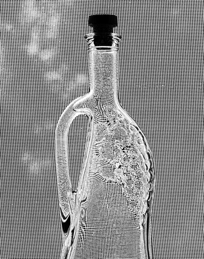 Butelka Czarny i biały styl zdjęcia stock
