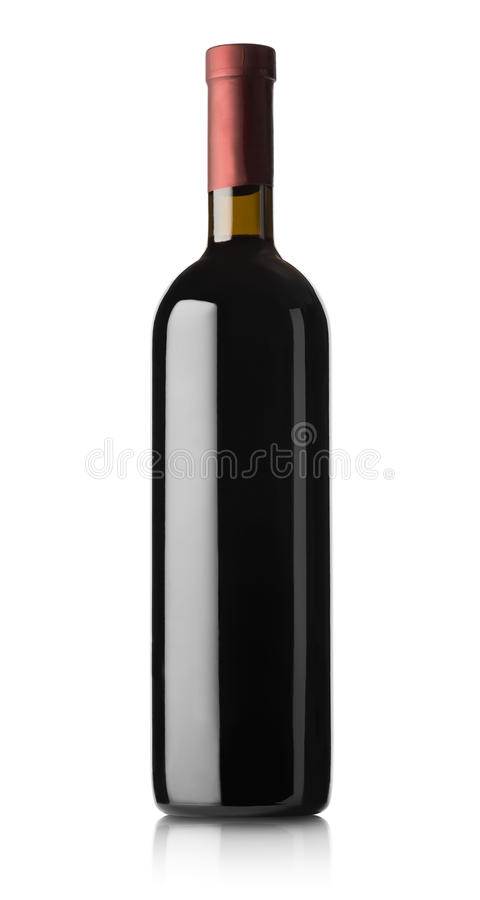 Butelka czerwone wino zdjęcia royalty free