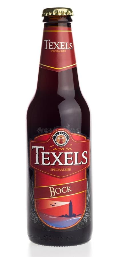 Butelka holendera Texels Bock rzemiosła piwo zdjęcia royalty free