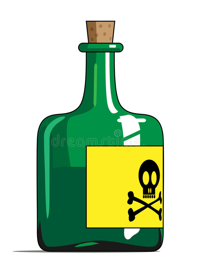 butelka jad ilustracja wektor