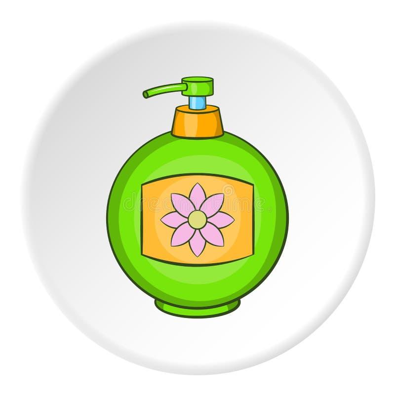Butelka kremowa ikona, kreskówka styl ilustracji
