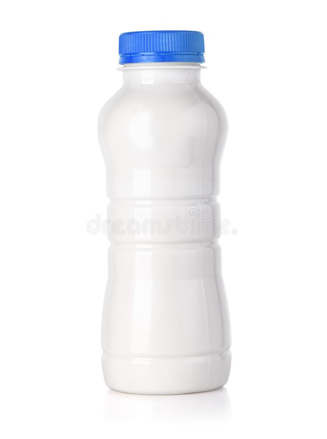 butelka odizolowywający dojny biel obrazy stock