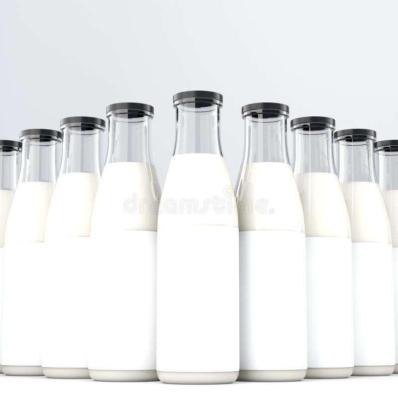 butelka odizolowywający dojny biel ilustracja wektor