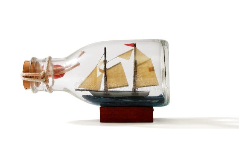 butelka omasztowywający statek dwa fotografia stock