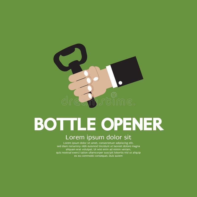 Butelka otwieracz. ilustracji