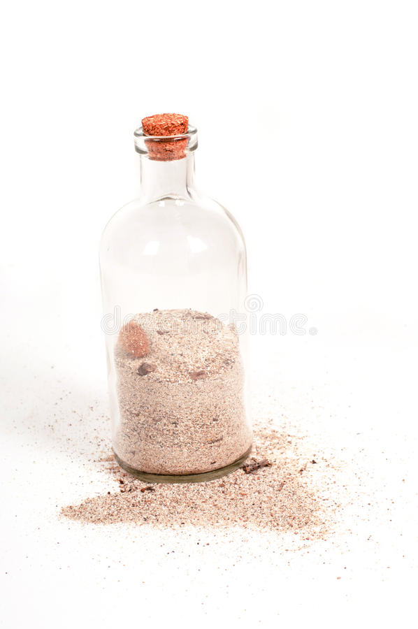 butelka piasek obraz stock