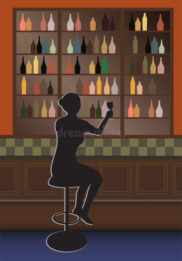 butelka prętowa kobieta wektora royalty ilustracja