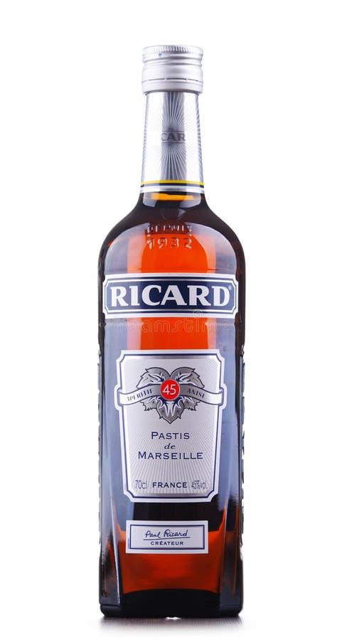 Butelka Ricard, pastis aperitif obraz royalty free