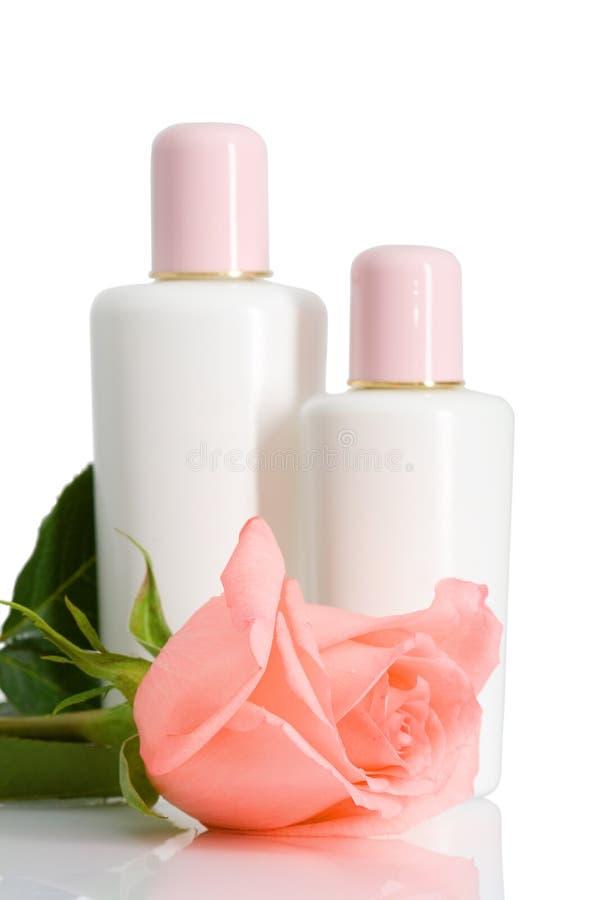 butelka rose kosmetyczną 2 zdjęcie stock