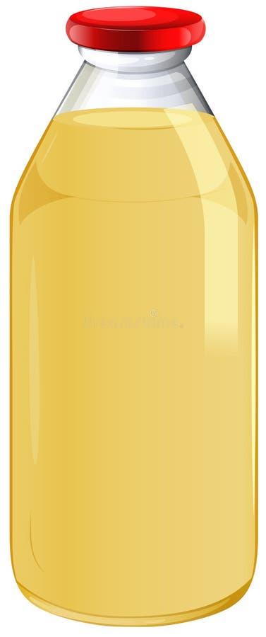 Butelka sok pomarańczowy royalty ilustracja