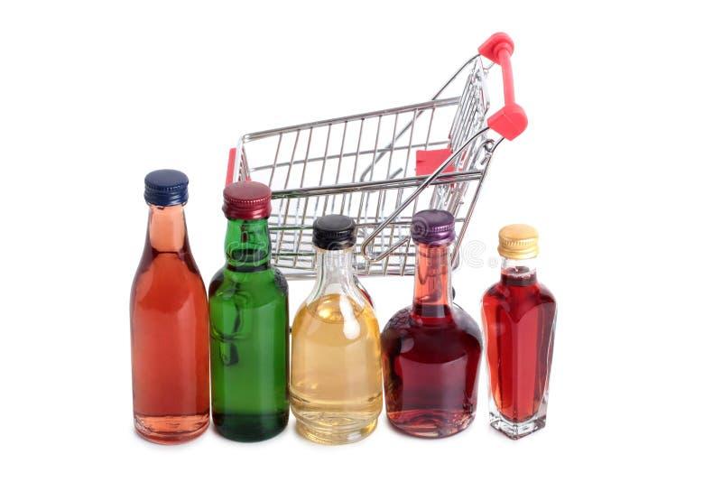 Butelka w rynku pięć zdjęcia royalty free