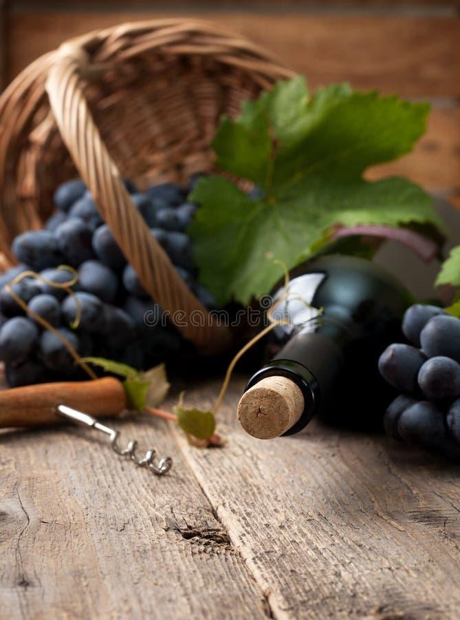 Butelka wino zdjęcia royalty free