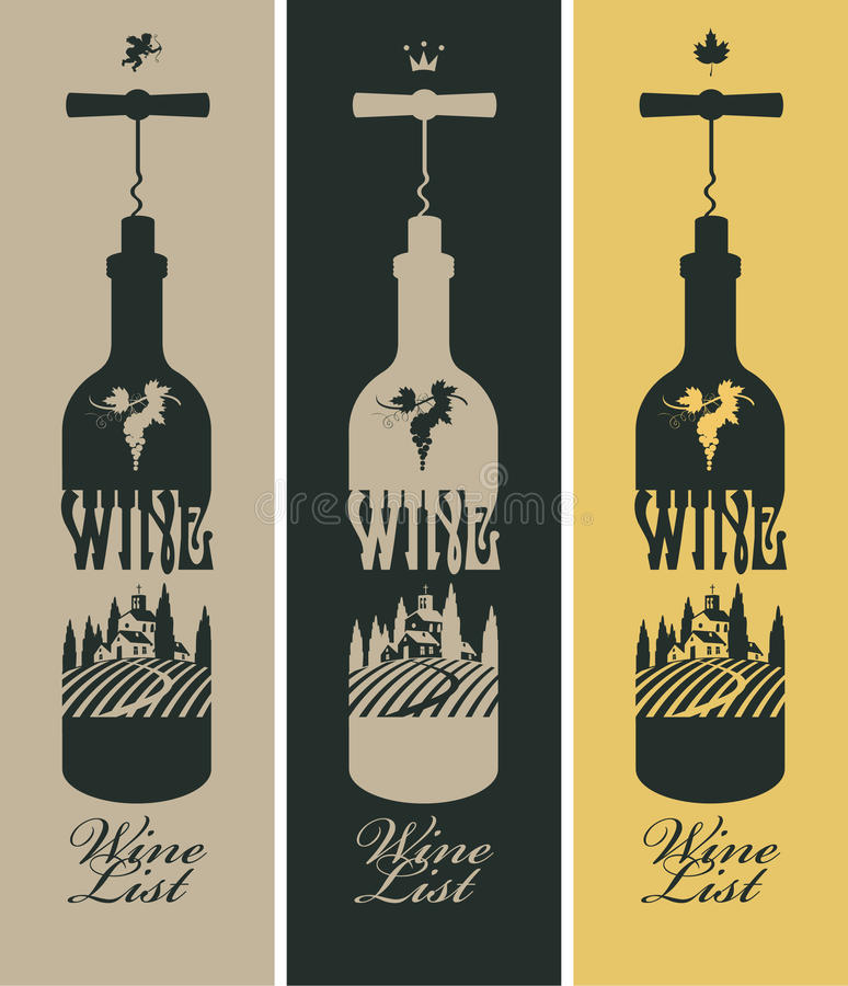 Butelka wino royalty ilustracja
