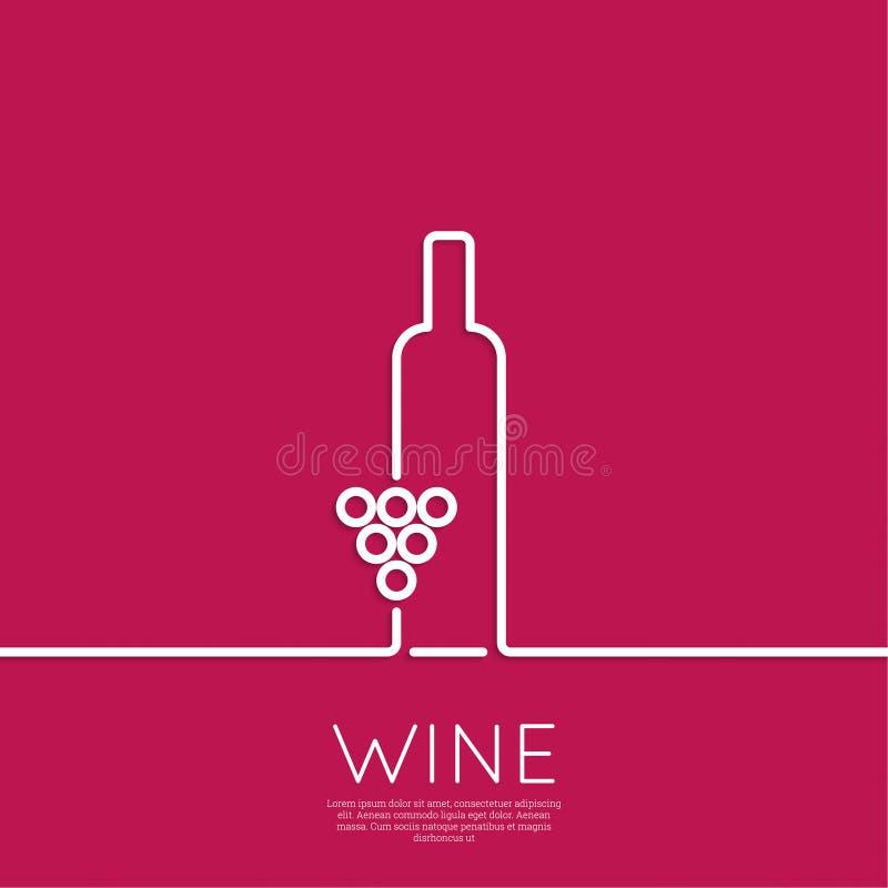 Butelka wino ilustracja wektor