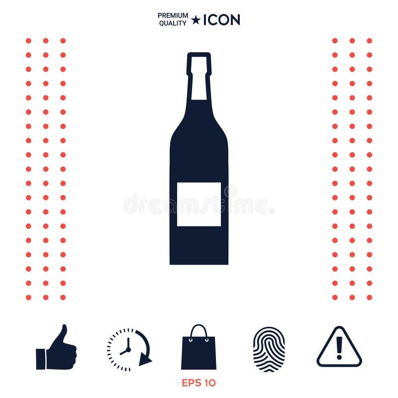 Butelka wino ikona ilustracja wektor