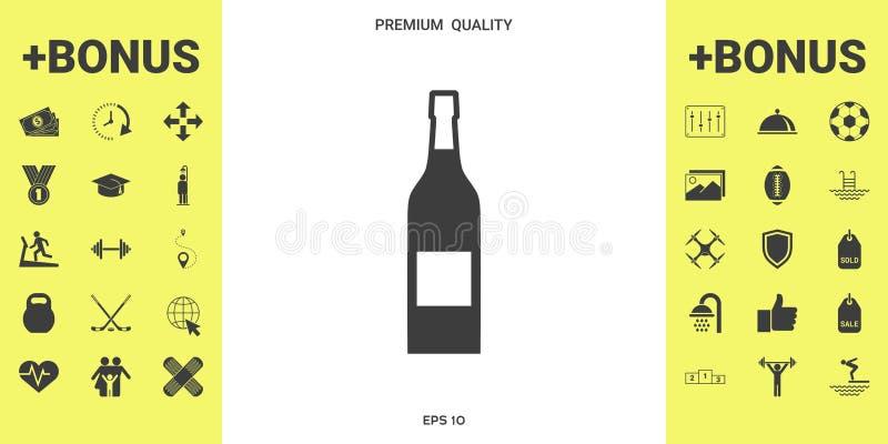 Butelka wino ikona royalty ilustracja